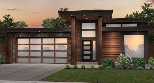 This One Story Contemporary House Plan Provides Affordable Living With Four Contemporary House Plans Contemporary House Exterior Mid Century Modern House Plans
