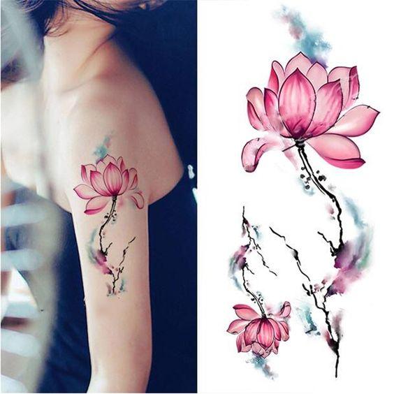 1 Arkusz Wodoodporna Tymczasowa Naklejka Tatuaż Akwarela Lotus DIY Arm Body Art Tattoo Naklejka w specyfikacja: ilość: 1 arkuszykolor: jak na zdjęciach widaćrozmiar: jak pokazuje obrazekZawartość opakowania:1 * PO od Tymczasowe Tatuaże na Aliexpress.com | Grupa Alibaba