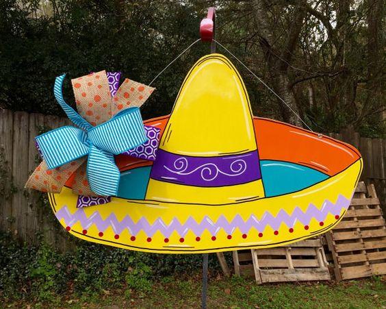 Sombrero Door Hanger Fiesta Cinco De Mayo by HolidaysAreSpecial