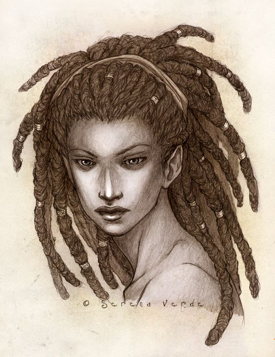 sexy dread locks girl art