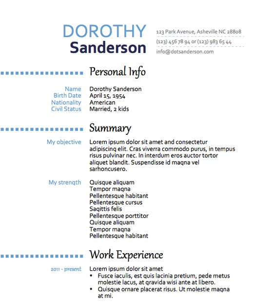 Free Resume Download No Point Left Out - Microsoft Word Format - free resume