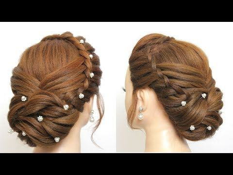 New Party Hairstyle For Girls Easy Bridal Hair Tutorial Youtube Hair Styles Party Hairstyles For Long Hair Wedding Hairstyles For Girls