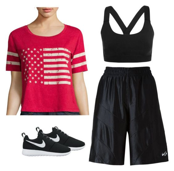 """""""Gonna run 1mile everyday at 6:00 now"""" by fashiongirlprox ❤ liked on Polyvore featuring Miss Chievous, NIKE and Ivy Park"""