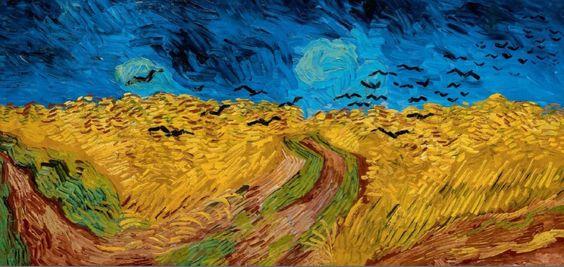 Vincent Van Gogh - Champs de blé avec corbeaux