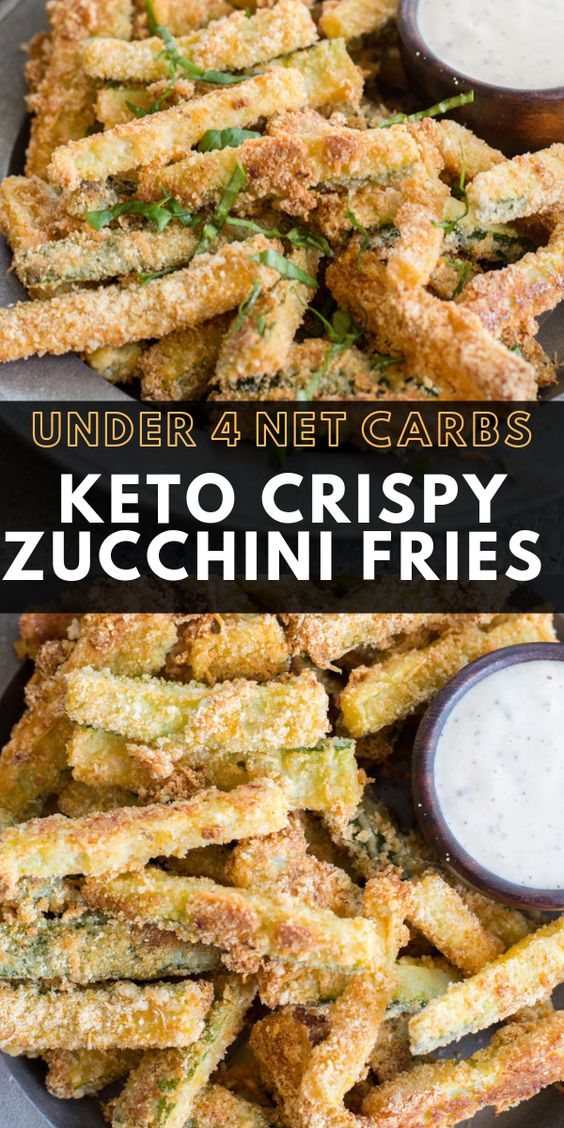 Crispy Zucchini Fries (keto + low carb)
