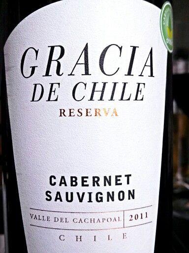 Gracias de Chile Cabernet Sauvignon 2011 Cachapoal Valley Chile.