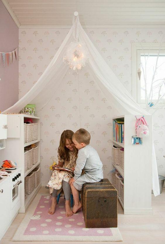 Un placard IKEA Kallax (Expedit) est idéal dans une chambre d