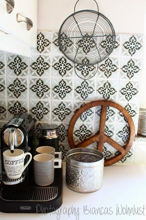sticker imitation carreaux de ciment bianca wonhlust. Black Bedroom Furniture Sets. Home Design Ideas