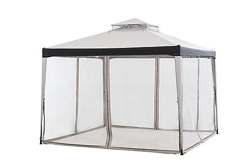 Hampton Bay Chatham 10 Ft X 10 Ft Gazebo In Grey The Home Depot Canada Hampton Bay Gazebo Chatham