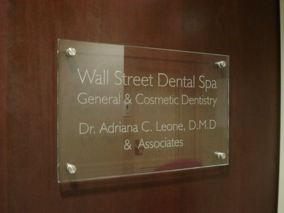 Corporate signs signage and office signs on pinterest - Glass office door signs ...