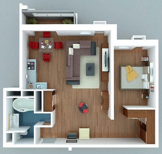 "One "" "" Bedroom Apartment House Plans   Apartments  Bedrooms     One "" "" Bedroom Apartment House Plans"