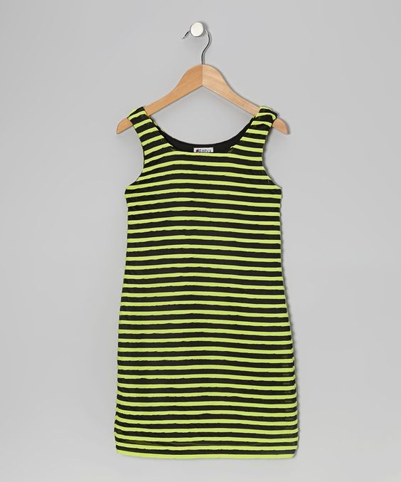 Love this Yellow & Black Stripe Dress by Daisy Jane on #zulily! #zulilyfinds