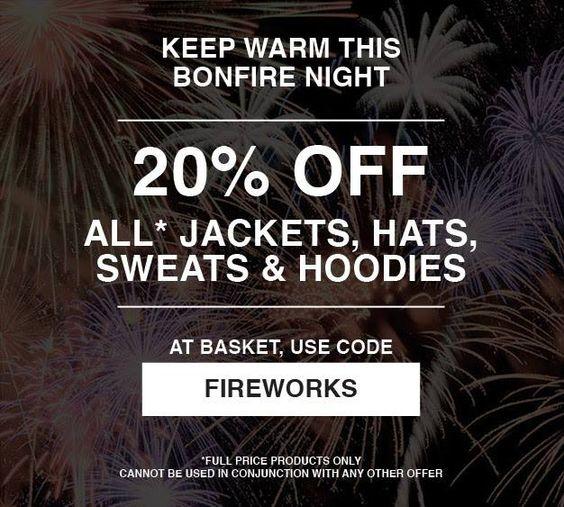 Keep warm this bonfire night with 20% off Urban Industry jackets hats sweats & hoodies.  http://ift.tt/1S2DTCa