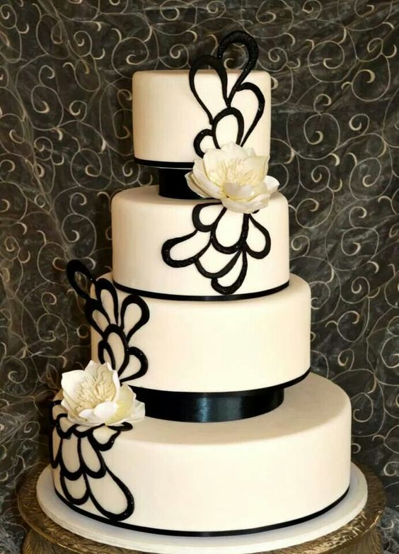 Black and white wedding cake. Art Deco Cakes for the ...