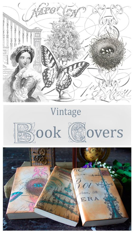 Old Book Cover Craft : Pastel graphics and fun projects on pinterest