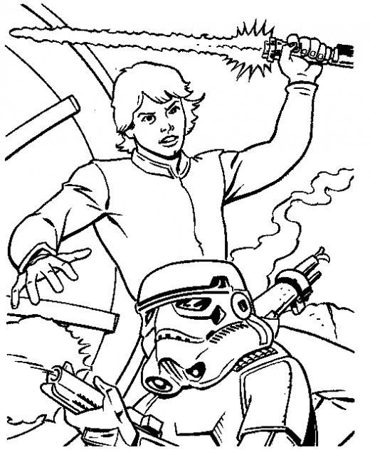 Luke Skywalker Coloring Pages Star Wars Games Coloring Pages