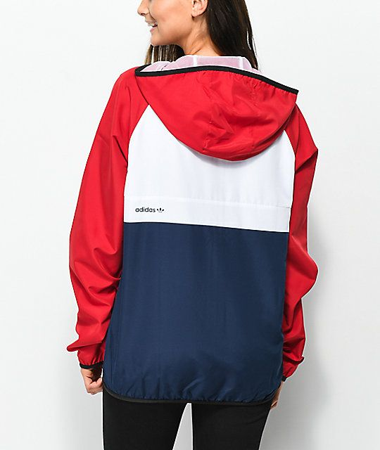 Adidas Mi Skate Red White Blue Windbreaker Jacket With Images