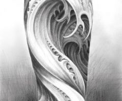 Water tattoo design for background and fill