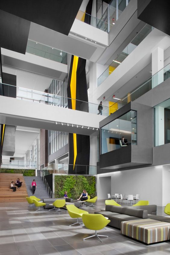 Inside goodyears global headquarters office office space for Well designed office spaces