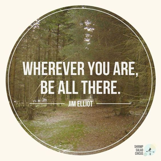 Wherever you are, be all there. - Jim Elliot Une bonne citation pour les campeurs... #roulotte #camping #nature