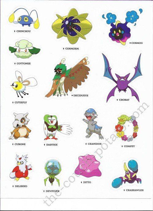Pokemon Alola Stickers 6987 Pokemon Alola Pokemon Pokemon Pictures