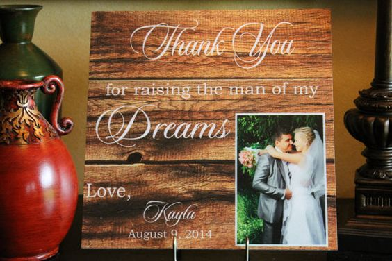 Personalized Fathers Gifts Parents of the Groom by TheBindingTie