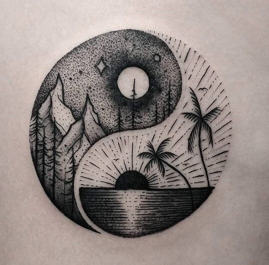 Zen Tattoo Don T Want Yin Yan Tattoo But I Love This Art The Dot Work Shading Circular Shape Tattoo Photography Cute Tattoos Tattoos