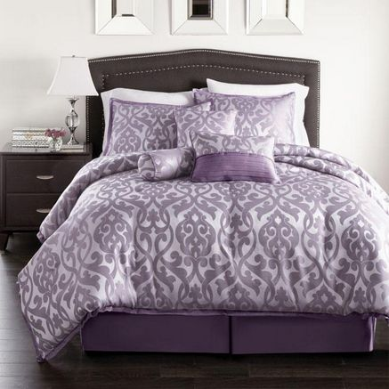 purple bedding   westland home angelina 7 piece