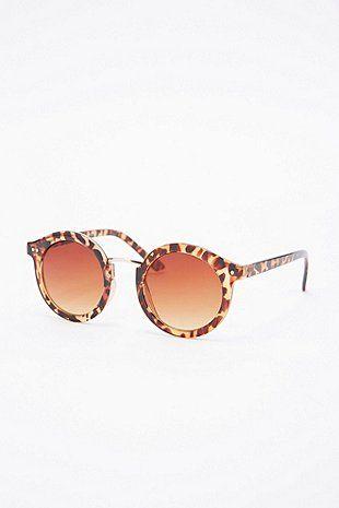 """Runde Sonnenbrille """"Cara"""" in Schildpattoptik - Urban Outfitters"""