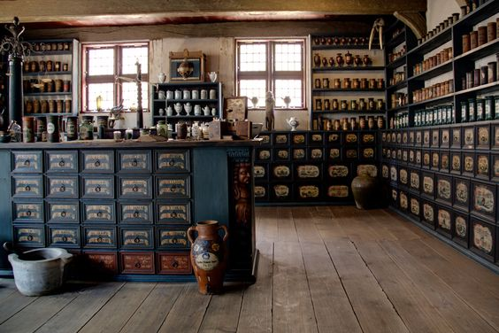 apothecary and herb room