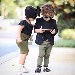 Little Fashioninsta By Twinsdiazpineda Itkstyletip Buzzfeast Bluehairdontcare Americanstyle Be Baby Girl Fashion Kids Fashion Rock Baby Boy Fashion