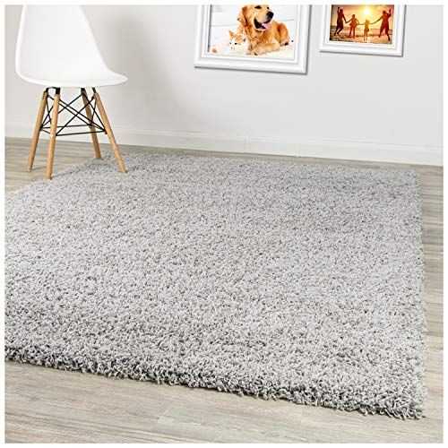 A2z Rug Pera Shaggy Luxury Super Soft 5 Cm Pile Thickness 120 X 170 Cm 39 X 56ft Plain Silver Grey Sha In 2020 With Images Small Area Rugs Home Decor Home Decor Shops