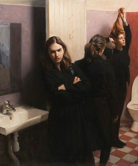 Nick Alm - Oil on canvas #OilPaintingClassic