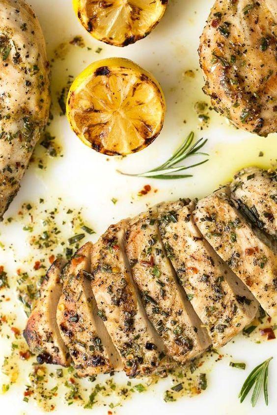 Lemon Rosemary Grilled Chicken Breasts Resep Ayam Panggang Resep Makanan Makanan