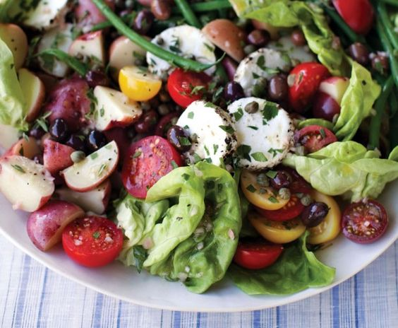 Vegan Nicoise Salad.