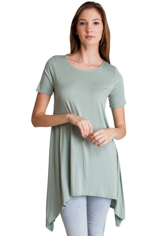 Tapered Tunic Trapeze Top T4473MGR clothing clothes womens ...