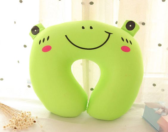 "11.8"" Green Frog U-Pillow Plush Toys Valentine's Gifts
