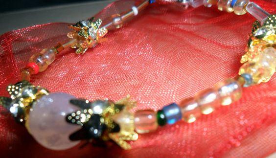 Golden Flower Bracelet by AeysheaJones on Etsy, £2.00