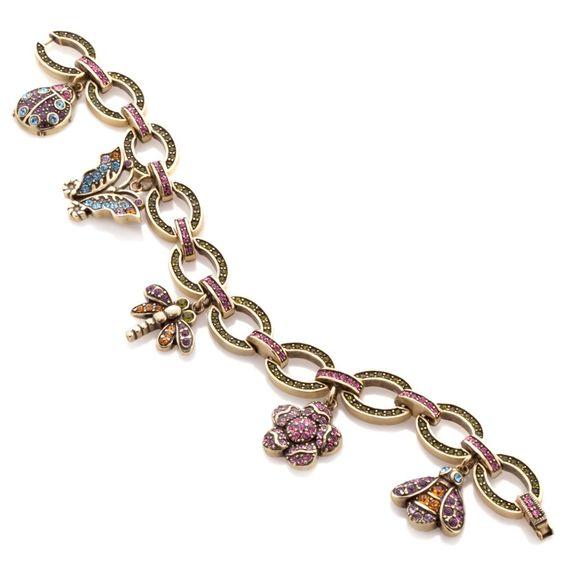 "Heidi Daus ""Secret Garden"" Crystal-Accented Charm Bracelet"