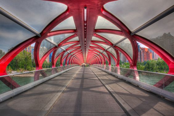 The Cowboy Trail starts in Calgary where you will land if flying in and a good place to begin is at the Peace Bridge crossing the Bow River.