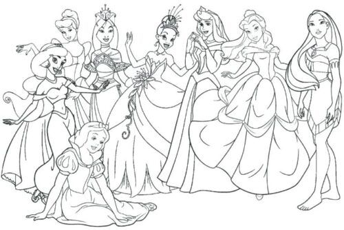 Disney Princess Coloring Pages Disney Princess Coloring Pages Disney Princess Colors Princess Coloring Pages