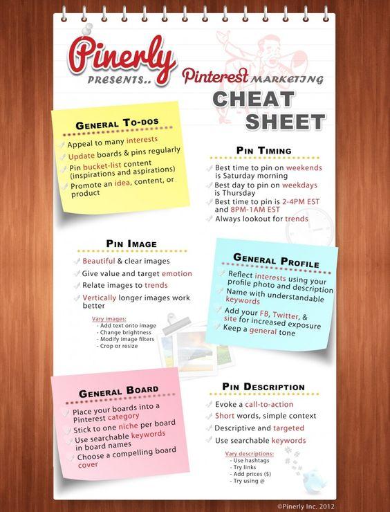 #Pinterest cheat sheet - #Infographic