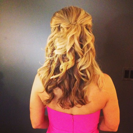 Beautiful half up and curls