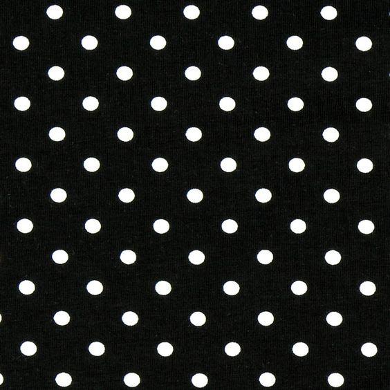 Jersey kleine Punkte  - schwarz