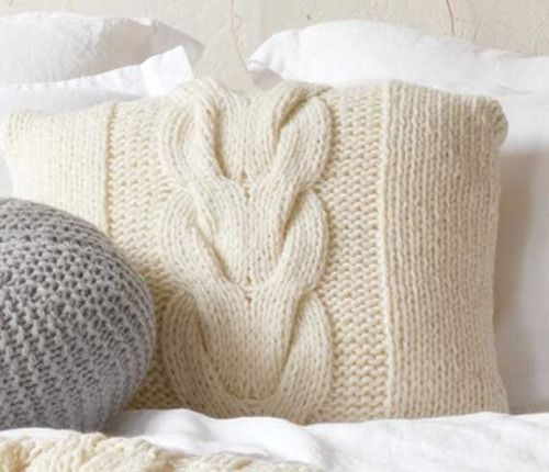 Make Your Own Knitting Pattern Online : Love this Cable Knit Pillow! Would You Like to Make Your Own? Get the Free Pa...