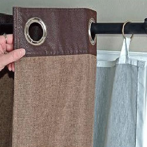Curtains Ideas blackout curtain backing : This is my easy fix for my grommet curtains to put lining behind ...