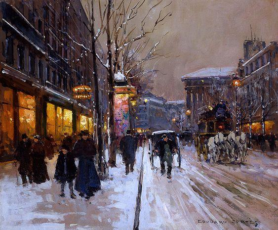 Boulevard a Paris by Edouard Cortes