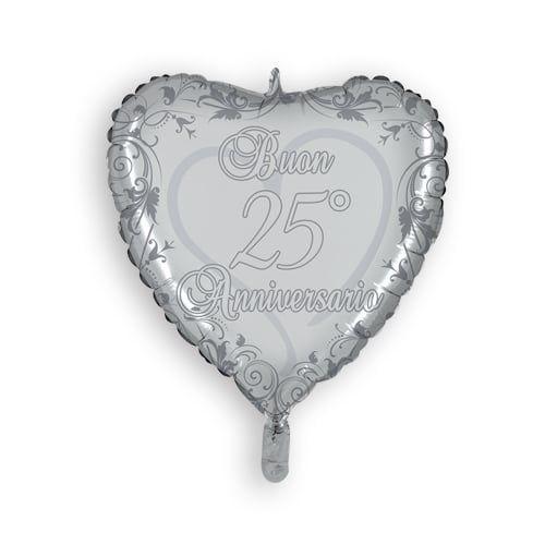 25esimo Anniversario Di Matrimonio.Mylar 45 Cm 25 Anniversario Anniversario Anniversario Di