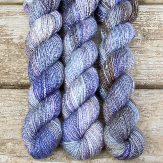 This colorway is a Wild Iris, meaning it is a truly unique, non-repeatable color. When this colorway is sold out, no more can be produced. Sojourn Sport Our most decadent blend of cashmere and silk, n