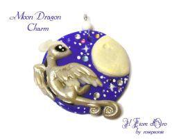 Moon Dragon charm by rosepeonie